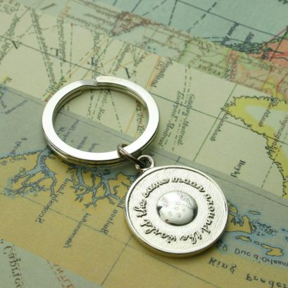 THE SAME MOON AROUND THE WORLD KEYRING