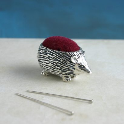 SILVER HEDGEHOG PIN CUSHION