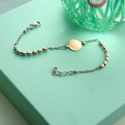 DISC AND BEAD BRACELET