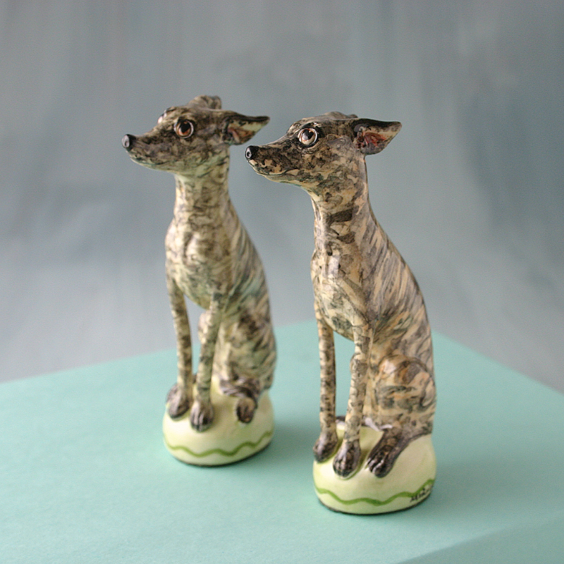 BRINDLE WHIPPET FIGURES