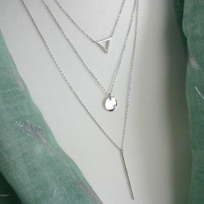 TRIO OF SILVER NECKLACES