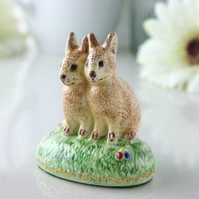 TWIN RABBIT FIGURE
